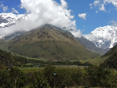Turkarway and Salkantay mountains loom in the distance