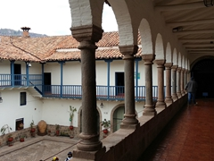 The regional historical museum in Cusco is housed in a beautiful colonial mansion