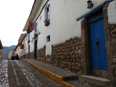 Cobblestone streets of Cusco