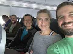 Big smiles all around as we fly from Lima to Cusco