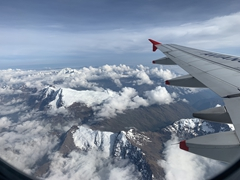 View on our short Avianca flight to Cusco