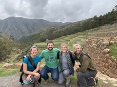 Posing at the Chinchero Inca ruins with John and Anna