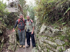 John and Robby on the easy hike to Inca Bridge