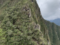 This is Huayna Picchu, the mountain we are about to climb!