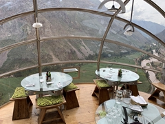 View from a pod at the Sky Lodge; Sacred Valley