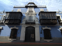 Fantastic wooden balconies in Lima's historical district