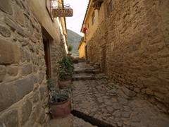 Wandering around Ollantaytambo's cobblestone streets
