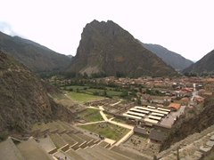 Amazing views of Ollantaytambo from the ancient ruins