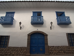 Beautiful colonial architecture in historical Cusco
