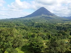 By early afternoon, we almost had a clear view of Arenal Volcano
