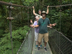 Robby, BG and Francisco; Mistico Hanging bridge