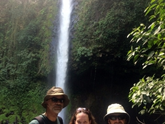 Francisco, BG and Robby; La Fortuna waterfall