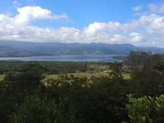 View of Lake Arenal from the 1968 lava trail