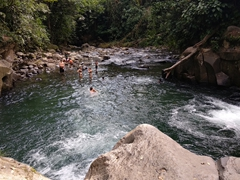 Popular swimming hole; Rio Fortuna