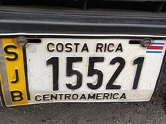Costa Rican license plate