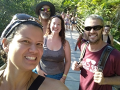 Big smiles all around even as we are all kicked out of Manuel Antonio park at 4 pm sharp!