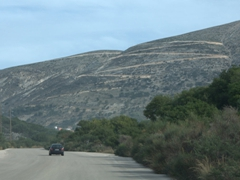 The curvy,  mountainous road from Argostoli to Sami