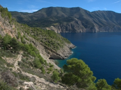 Our hike up to the Venetian Castle of Assos. We took the footpath leading up to the rear of the castle