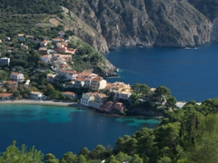The gorgeous town of Assos, one of Kefalonia's prettiest!