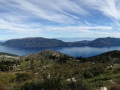 The pretty northeast coast of Kefalonia