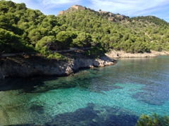 Bay of Assos with the Venetian Castle on the ridgeline
