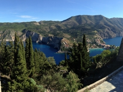 Looking down on Assos from the castle viewpoint