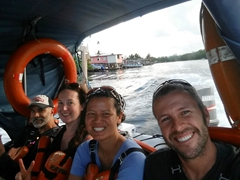 The last leg of our journey...water taxi to Bocas del Toro