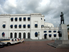 Once a former Supreme court building, this now functions as a small theater; Casco Viejo