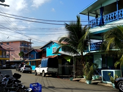 Colorful downtown Bocas del Toro