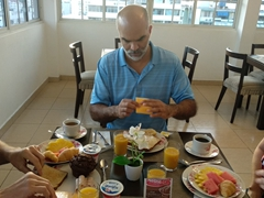 Our final breakfast in Panama City with Francisco and BG