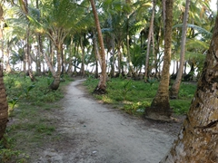 Checking out Ina Island, a short path leads us to one end of the island