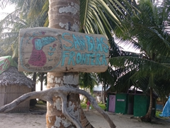 San Blas border sign; Ina Island