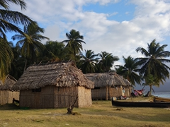 The Kuna tribe lives on one section of the island, away from the tourists' huts