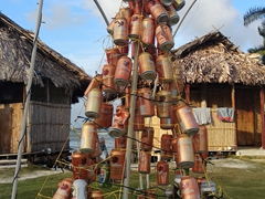 Beer can Christmas tree; Ina Island