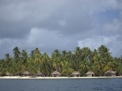 Simple beach huts; San Blas