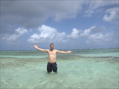"Robby shows off the ""natural pool""; San Blas"