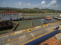 It was very interesting to watch the locks in action as boats cross the Panama Canal