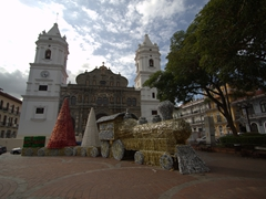 Christmas decorations at Plaza Cathedral; Town Square in Casco Viejo