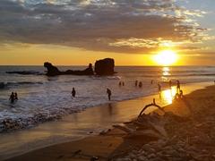Perfect sunset in pretty El Tunco