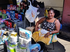 Friendly outdoor vendor
