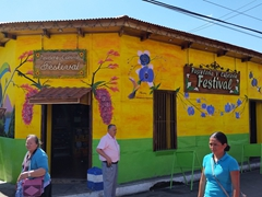 Colorful building in central Juayua