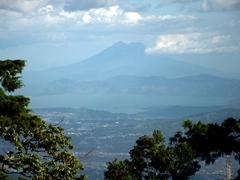 View of San Vicente volcano and Lake Ilopango