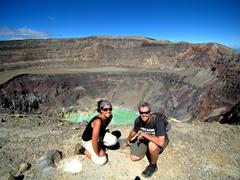 Smiling at the top of Santa Ana volcano