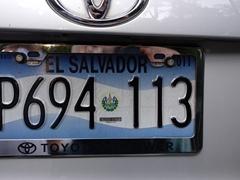 El Salvador license plate