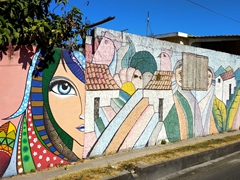 Colorful murals painted in San Bartolomé Perulapía