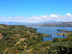 """Manmade lake """"Lago Suchitlán"""""""