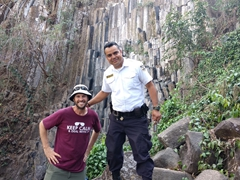Robby and Frank, our politur (police officers who specialize in safety for tourists) escort to Los Tercios