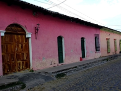 Brightly painted houses are a common sight in Suchitoto