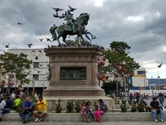 Statue of Gerardo Barrios who was president of El Salvador from 1859 to 1863