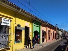 Colorful houses; Santa Ana